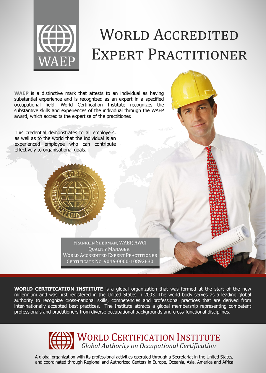 World Accredited Expert Practitioner